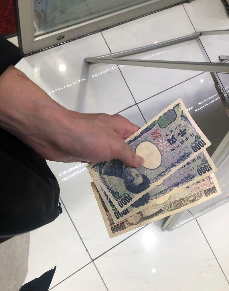 アクセス心斎橋店の実践結果「投資3500円、回収12000円」